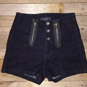 Guess denim hi waisted shorts